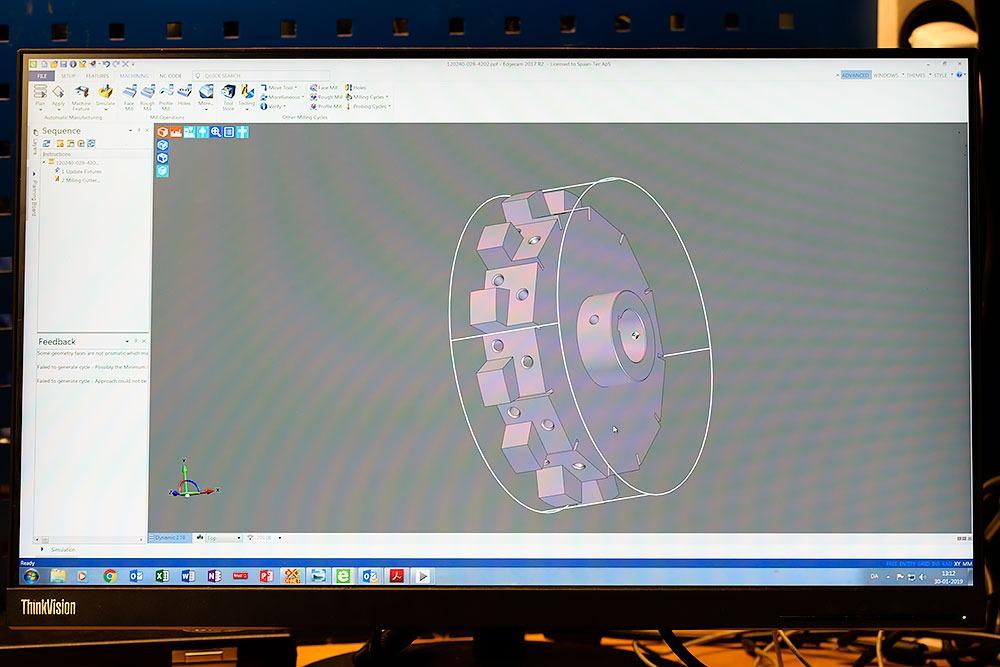 CAD-Zeichnung zur Verwendung beim CNC-Fräsen von Bohnenschnitter