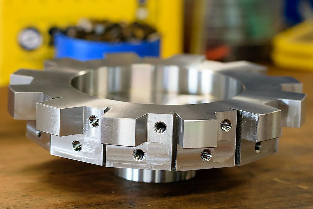 Spaantec CNC-Fräsen von Bohnenschnitter. Komponente in voller Größe