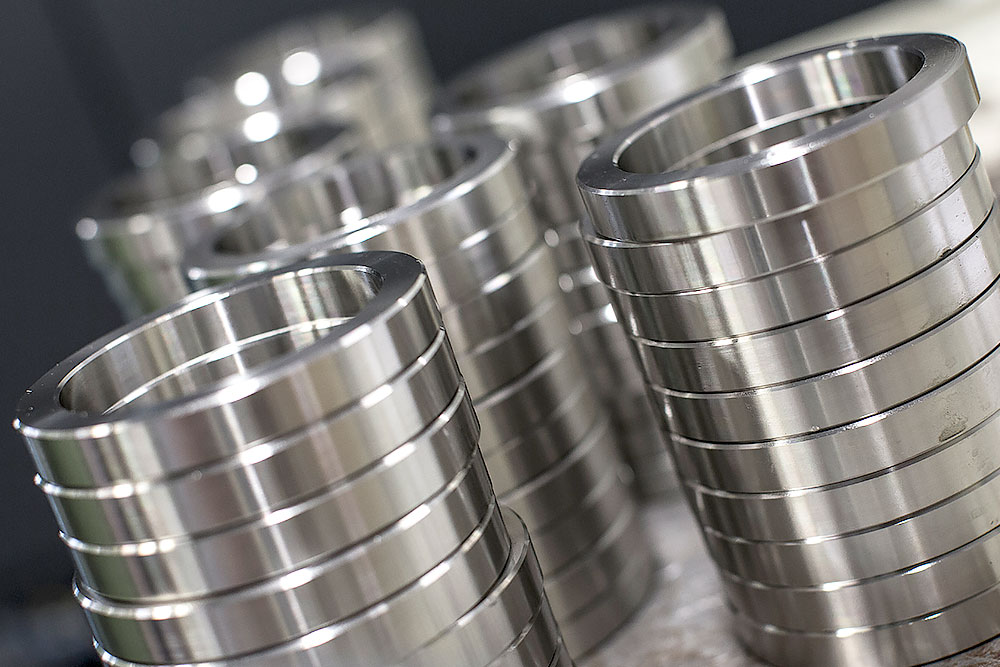 CNC-Drehen von Stahlringen für Maschinen